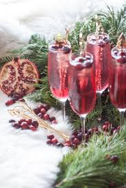 holiday champagne cocktails holiday cocktail vanilla cran pom mimosa u2022