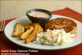 quick easy salmon patties make a great easy healthy lunch or