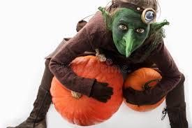 Pumpkin Halloween Costume Goblin With Pumpkins Halloween Costume Stock Photo Image 100112454