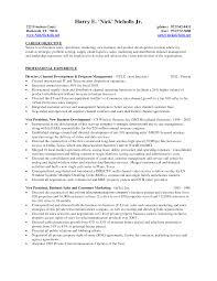 Project Manager Resume Objective It Manager Resume Objective The Best For A Business Account