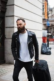 motorcycle biker jacket meninthistown crew similar look reclaimed vintage leather biker