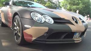 camo mclaren camouflaged mercedes benz slr mclaren walkaround full hd 1080p
