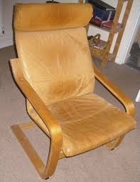 Leather Poang Chair Vintage Ikea Poang Chair Beautiful Brown Leather In Stoke On