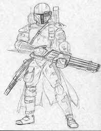 star wars mandalorian armor sketch coloring page
