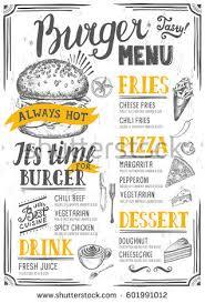fast food menu design fast food imagem vetorial de banco 455453824