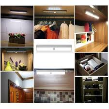 closet light built in battery rechargeable cordless motion sensor