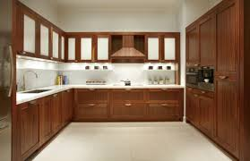dark wood kitchen cabinets with glass doors kitchen decoration
