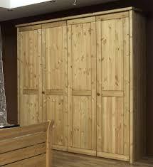 Schlafzimmerschrank Zerlegen Kleiderschrank 214x224x62cm 4 Holztüren Glatte Front Kiefer