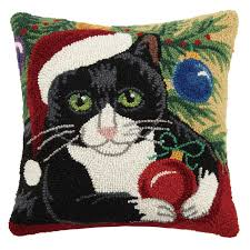 cats throw pillows mosaic