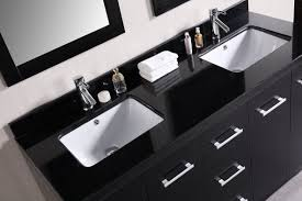Cheap Bathroom Vanities With Tops  Inch Wall Mounted Black - Bathroom vanities with tops double sink