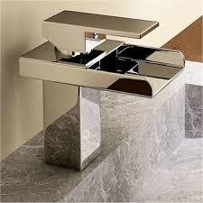 Single Hole Bathroom Sink Faucets Kokols Single Handle Single Hole Waterfall Bathroom Sink Faucet