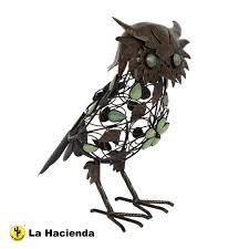 metal owl ornament by la hacienda co uk garden outdoors