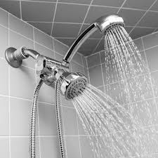5 setting water saving multi function hose mount hand held shower