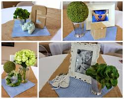 eve4art diy baby shower decorations two larger flower arrangements