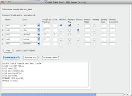 sql server create table syntax sql server create table