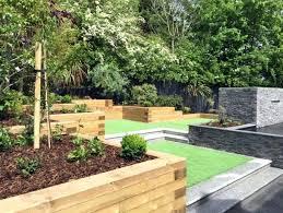Sloped Garden Design Ideas Sloping Garden Designs Modern Sloping Garden With Feature Pond