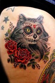 10 awesome cat tattoos tattoos cattattoos diadelosmuertos