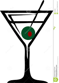 martini olive vector martini glass stock images image 6089994