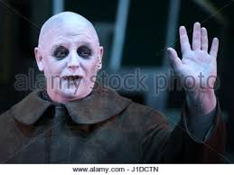 Addams Family Uncle Fester Halloween Costumes Les Dennis Uncle Fester Dress Rehearsal