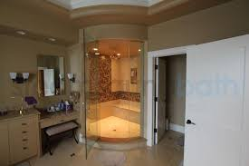 Steam Shower Bathroom Designs Steam Shower Design With Curved Glass And Tile Photo Gallery And