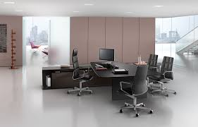 Knoll Office Desk Executive Office Desk Wooden Contemporary Commercial