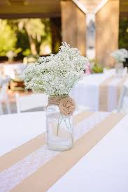 Shabby Chic Wedding Centerpieces by Best 25 Burlap Centerpieces Ideas On Pinterest Simple Wedding