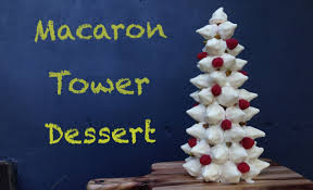 chocolate macaron tower dessert recipe how to cook that ann