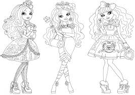free coloring pages ever after high ever after high cerise hood