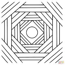 triangle and hexagon coloring page free printable coloring pages