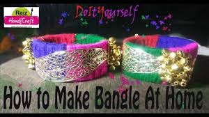 diy how to make woolen bangle at home easy step by step bangle