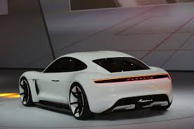 new porsche electric porsche mission e concept ev arrives in frankfurt with 600 hp
