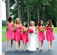 fuschia bridesmaid dress 3 the bridesmaids dresses color length and picture
