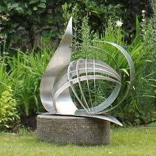 contemporary synergy stainless steel garden sculpture s s shop
