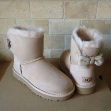 ugg bailey bow sale size 7 ugg australia bailey bow mini blue fur boots womens size 7 ebay