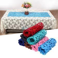 7colors hollow felt tablecloth runner placemats table mats
