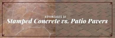 Concrete Patio Pavers Advantages Of Sted Concrete Vs Patio Pavers West Palm