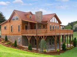 Luxury Log Cabin Floor Plans Like Having The Lower Level Under The Deck They Make Rain Snow