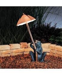 Kichler Outdoor Led Lighting by Kichler 15307 Frog And Umbrella 1 Light Pathway Light Capitol