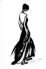 fashion illustration elegant black dress sketch fashion drawing