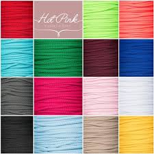 piping cord 4mm drawstring lacing piping cord 20 colours hot pink haberdashery