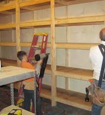 Wood Shelf Building Plans by Storage Shelf For The Basement Making Wood Shelves For Garage