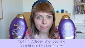 biotin and collagen shampoo u0026 conditioner review youtube