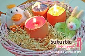 painted eggshells easy easter crafts egg shell candles suburbia unwrapped