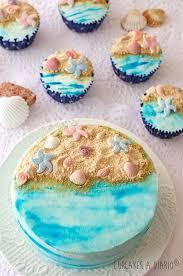 Ocean Cake Decorations Best 25 Ocean Cupcakes Ideas On Pinterest Ocean Theme Cupcakes
