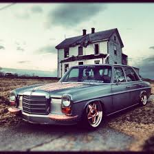 bagged mercedes wagon metal finished mercedes benz w114 with steampunk details copper