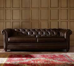 pottery barn chesterfield sofa chesterfield leather sofa 218 cm pottery barn au