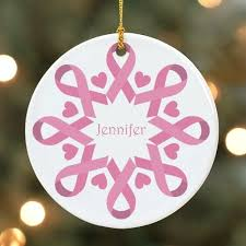 pink ribbon snowflake ornament mywalkgear