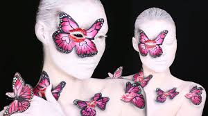 Butterfly Halloween Makeup by Butterfly Kisses Makeup Tutorial Youtube
