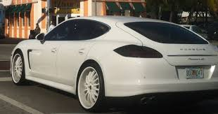 white porsche panamera porsche panamera with white rims exotic cars on the streets of miami