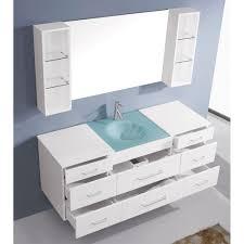 Single Bath Vanity Bathroom Cabinets Floating Columbo 63 Inch Wall Mounted Single